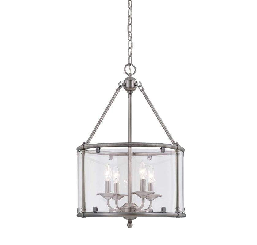 "Savoy House 3-4153-4 Foxcroft 4 Light 17"" Wide Pendant Brushed Pewter"