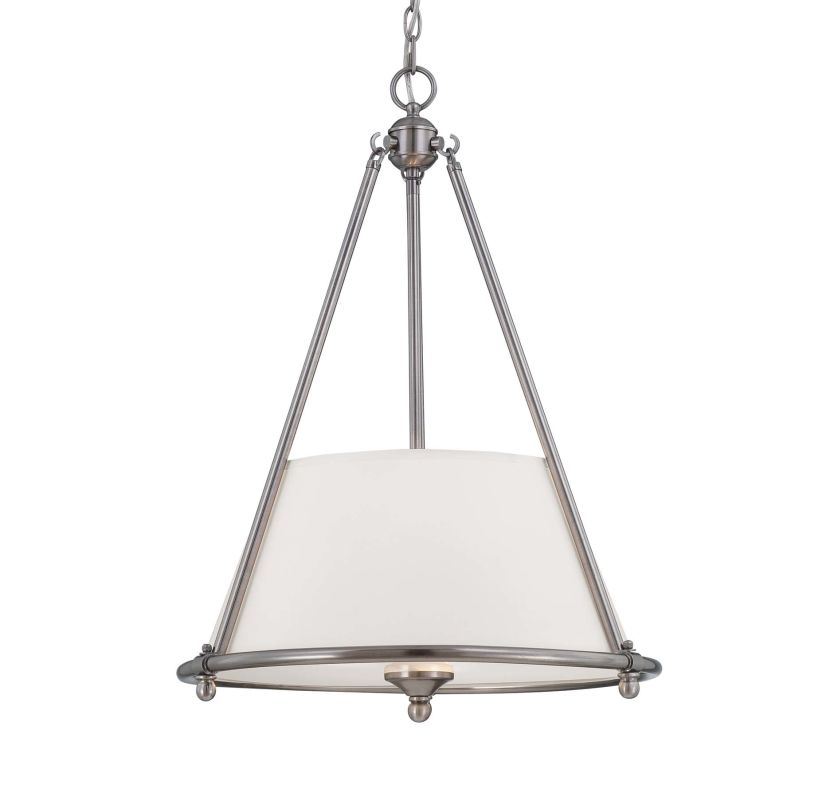 Savoy House 7-4151-3 Foxcroft 3 Light Pendant Brushed Pewter Indoor