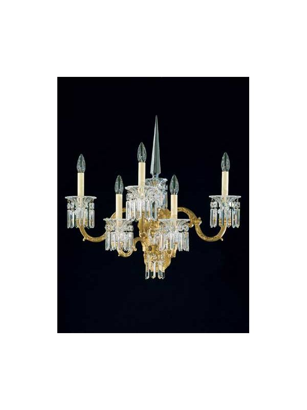 Schonbek 5029 Crystal Five Light Up Lighting Wall Sconce from the