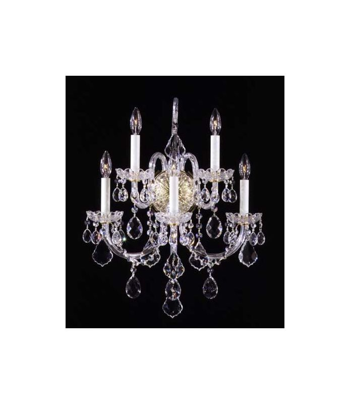 Schonbek 9806 Crystal Five Light Up Lighting Wall Sconce from the Olde