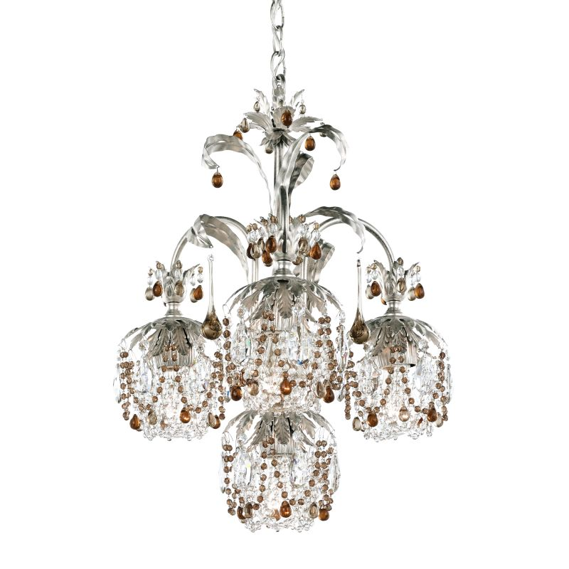 "Schonbek 1264 18"" Wide 4 Light Chandelier from the Rondelle Collection"