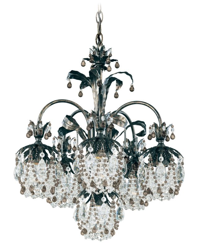 "Schonbek 1266 21"" Wide 6 Light Chandelier from the Rondelle Collection"