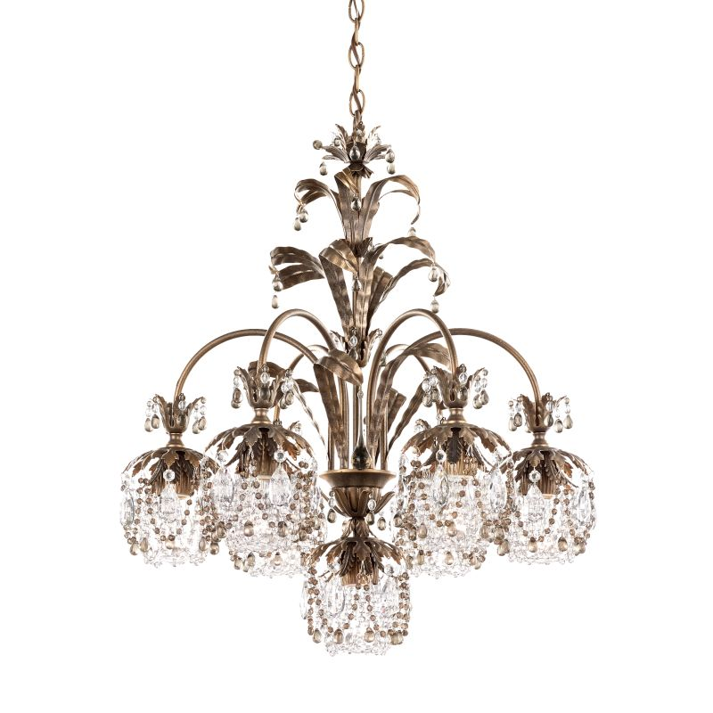 "Schonbek 1267 24"" Wide 7 Light Chandelier from the Rondelle Collection"