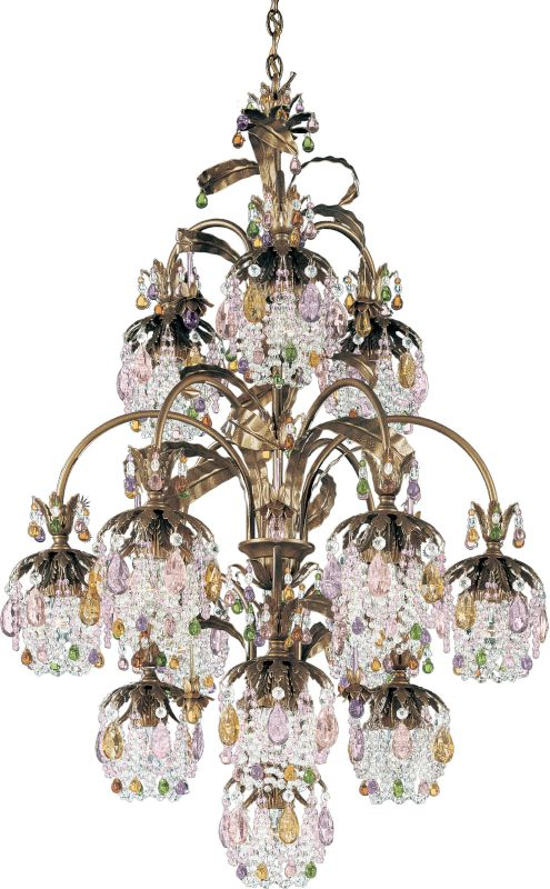 "Schonbek 1270 28"" Wide 13 Light Chandelier from the Rondelle"