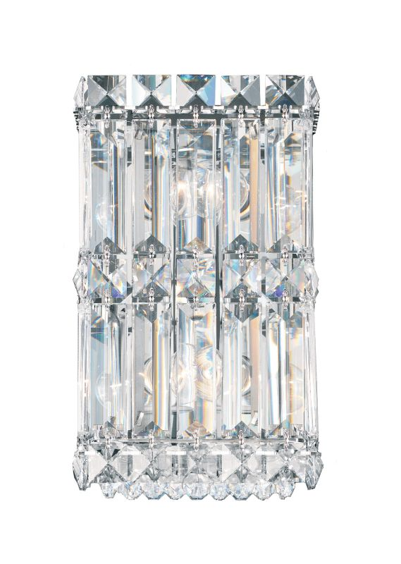 """Schonbek 2235 4 1/2"""" Wide 2 Light Ambient Wall Sconce from the Quantum Sale $698.00 ITEM#: 2807255 MODEL# :2235-401 UPC#: 771857372847 :"""