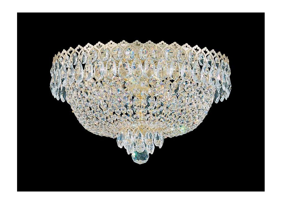 "Schonbek 2617 16"" Wide 4 Light Flush Mount Ceiling Fixture From The"