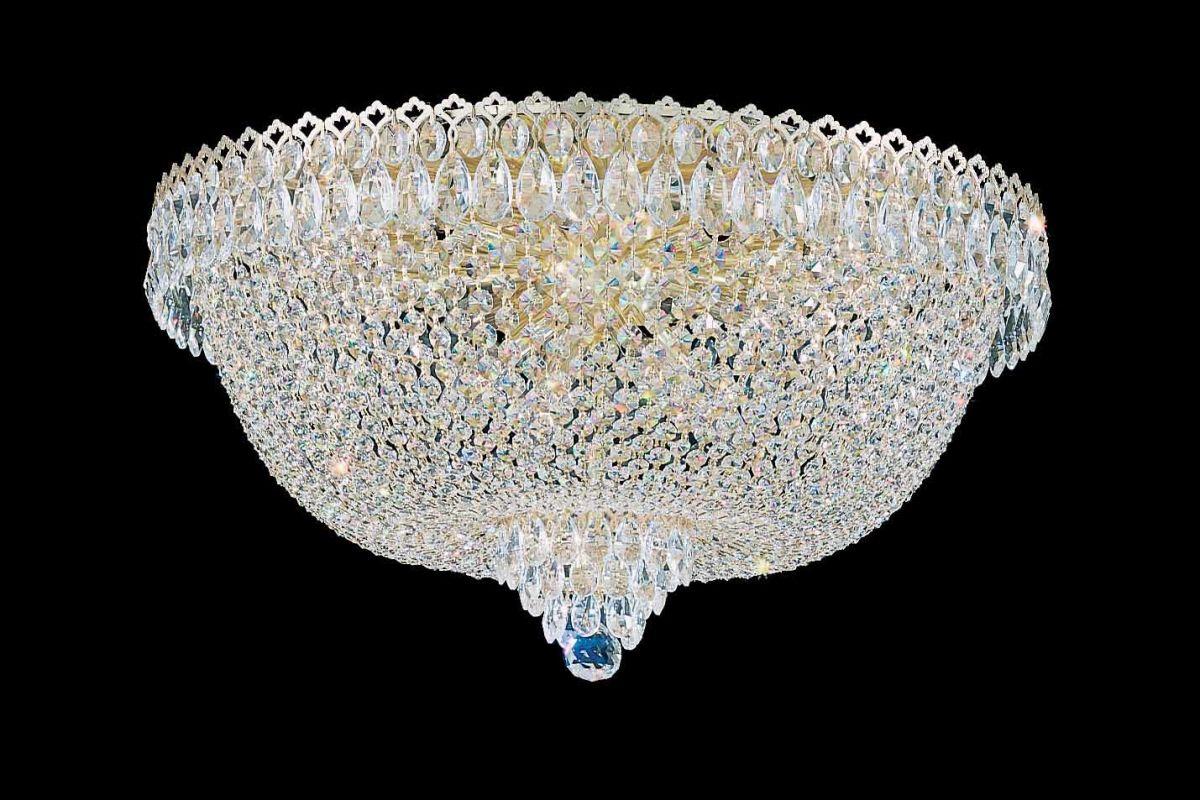 "Schonbek 2619 24"" Wide 14 Light Flush Mount Ceiling Fixture From The"
