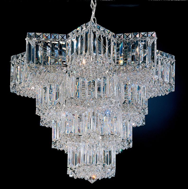 "Schonbek 2714 22 1/2"" Wide 15 Light Chandelier from the Equinoxe"