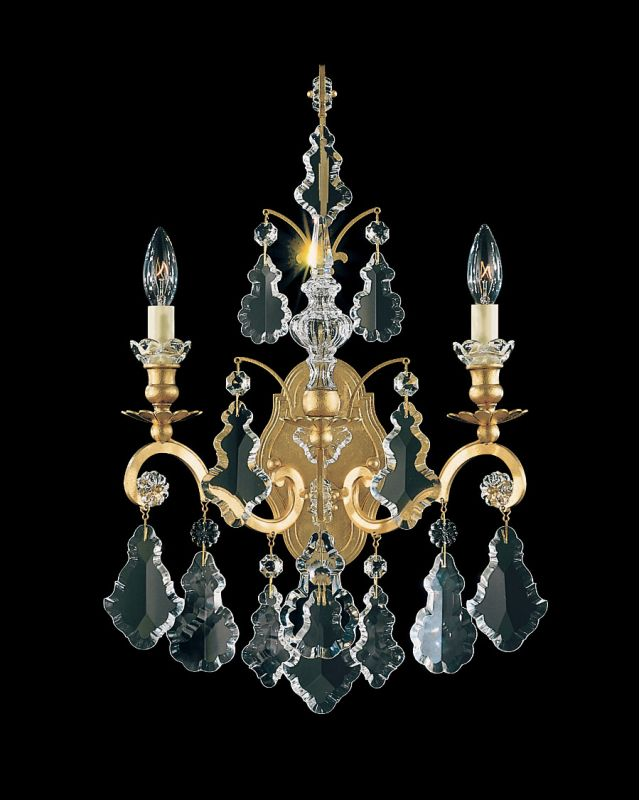 "Schonbek 2761 8"" Wide 2 Light Candle-Style Wall Sconce from the"