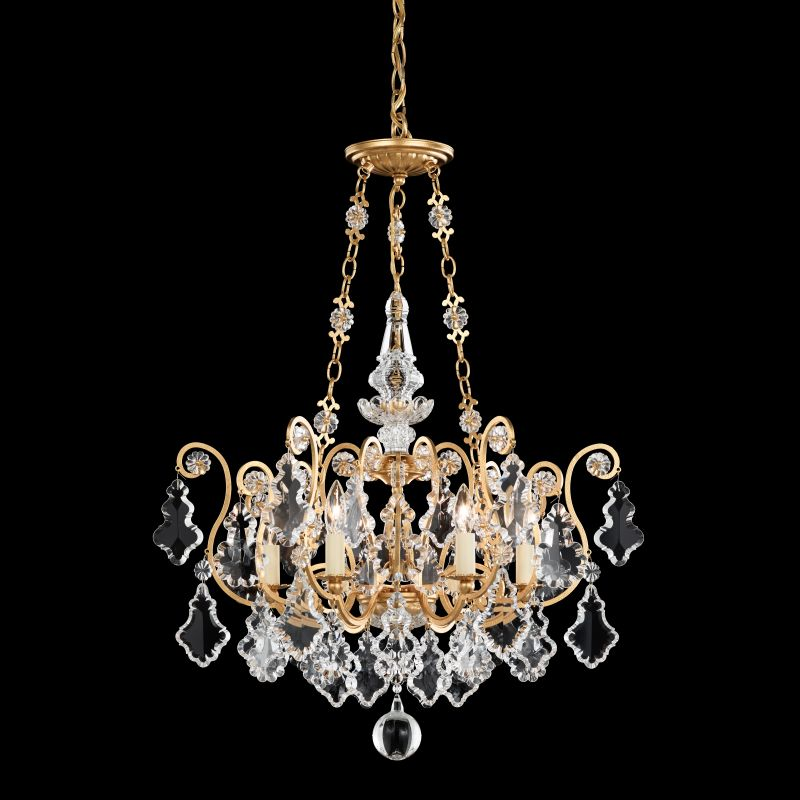 "Schonbek 2786 21 1/2"" Wide 6 Light Candle Style Chandelier from the Sale $2350.00 ITEM#: 1005928 MODEL# :2786-22 :"
