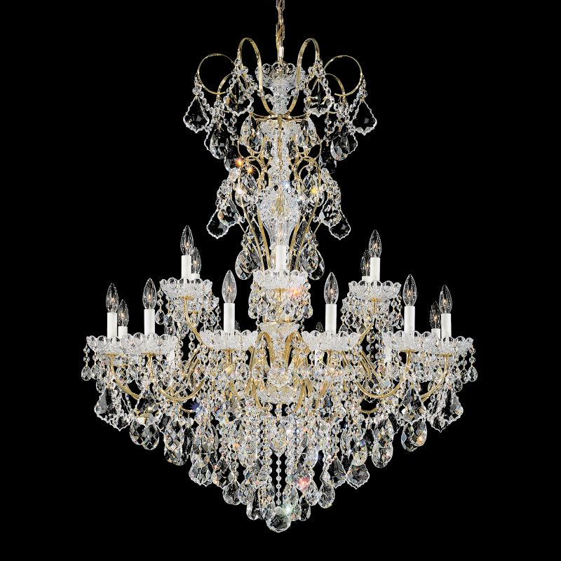 """Schonbek 3660 36"""" Wide 18 Light Candle Style Chandelier from the New Sale $5850.00 ITEM#: 2799276 MODEL# :3660-211 :"""