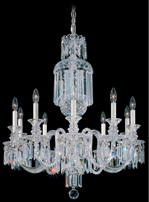 "Schonbek 5033 28"" Wide 10 Light Candle Style Chandelier from the"