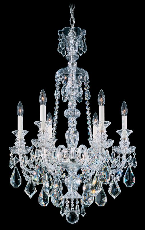 """Schonbek 5705 22"""" Wide 6 Light Candle Style Chandelier from the"""