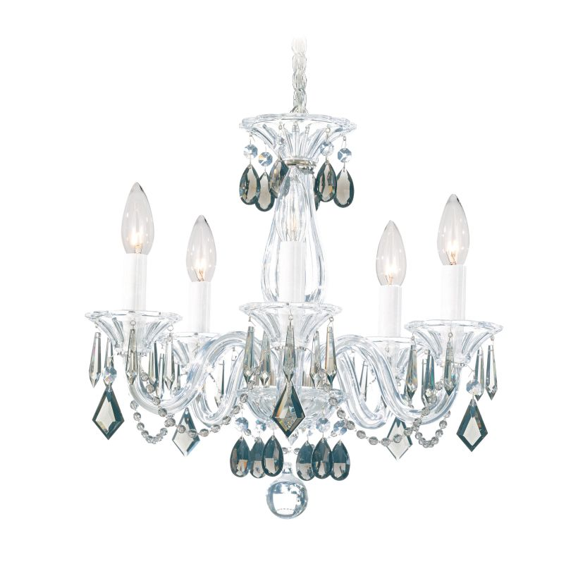 "Schonbek 6995 15"" Wide 5 Light Candle Style Chandelier from the"