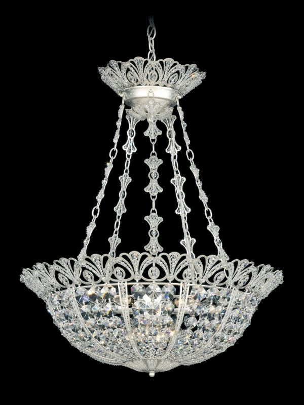 "Schonbek 9849 24 1/2"" Wide 9 Light Pendant from the Tiara Collection"