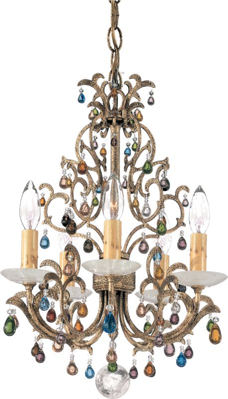 "Schonbek 9875 13"" Wide 5 Light Candle Style Chandelier from the Sale $2390.00 ITEM#: 1014619 MODEL# :9875 :"