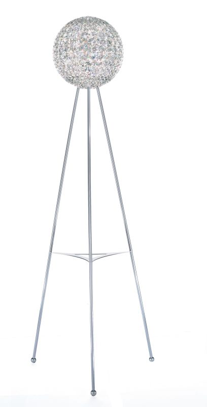 "Schonbek DVF1265 12"" Wide 12 Light Floor Lamp With Crystal Shade From"