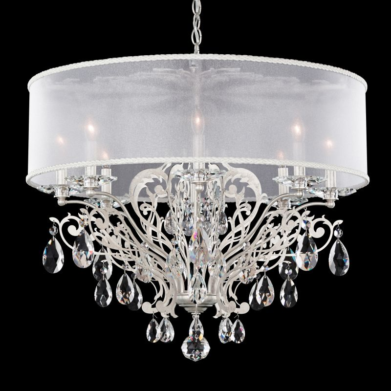 """Schonbek FE7088 28 1/2"""" Wide 8 Light Candle Style Chandelier from the Sale $2390.00 ITEM#: 2800224 MODEL# :FE7088N-48 :"""