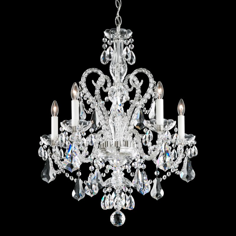 "Schonbek NV3905 22"" Wide 5 Light Candle Style Chandelier from the Sale $2470.00 ITEM#: 2800313 MODEL# :NV3905N-40 :"