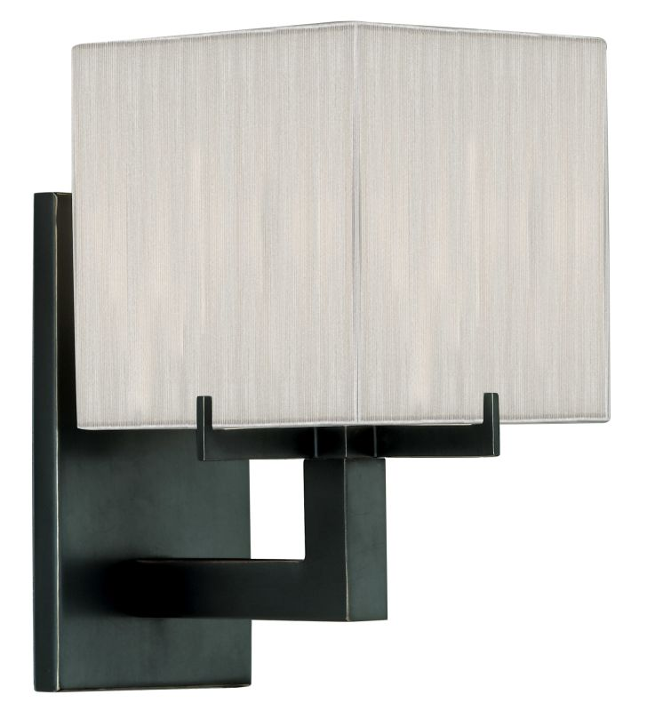 Sonneman 3352 Warm Contemporary Boxus Wall Sconce wih Shade Black