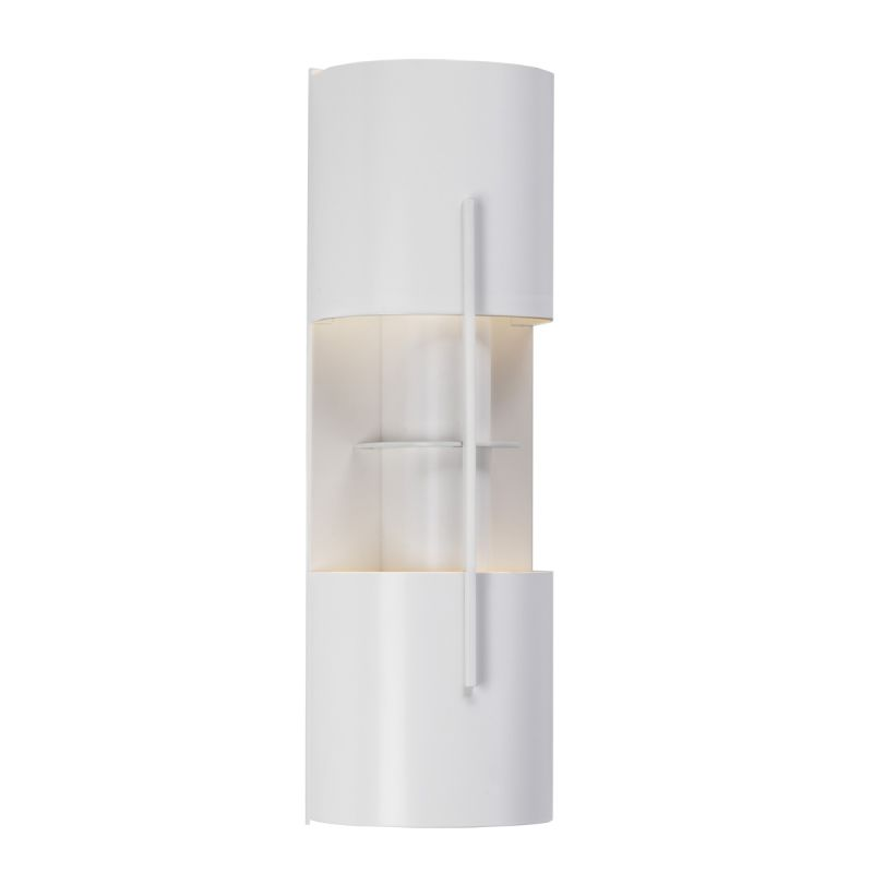 Sonneman 1712 Oberon 2 Light CFL Double Wall Sconce with Etched Glass