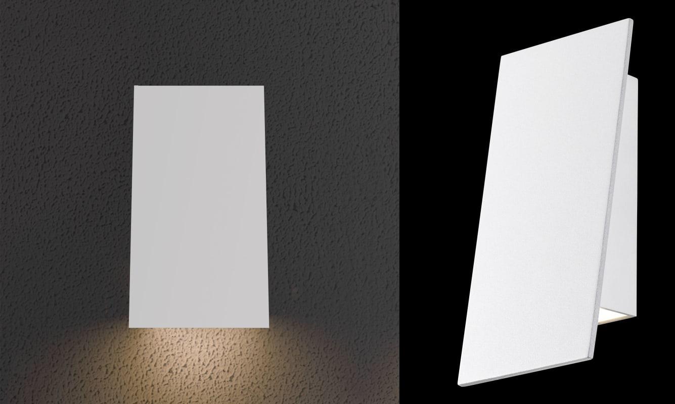 "Sonneman 2361-WL Inside-Out Angled Plane 1 Light 4"" Wide ADA Compliant"