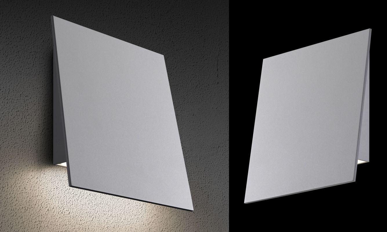 "Sonneman 2363-WL Inside-Out Angled Plane 1 Light 7"" Wide ADA Compliant"