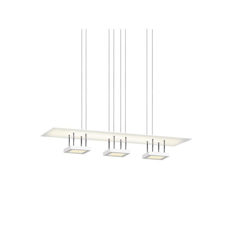 Sonneman 2413 Chromaglo Bright White 1 Light LED Chandelier with White Sale $2400.00 ITEM#: 2406099 MODEL# :2413.03 UPC#: 872681057143 :