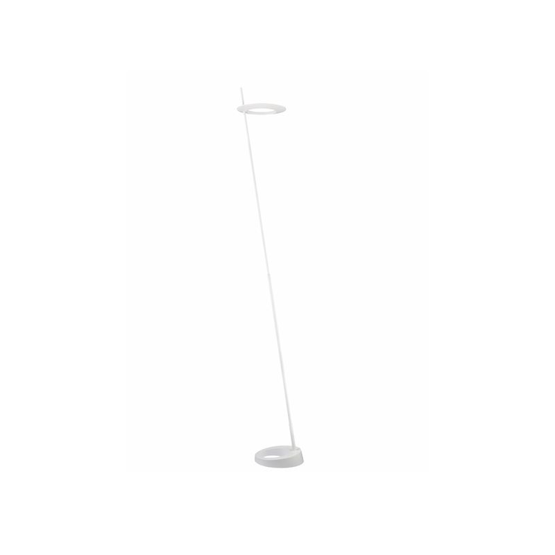 Sonneman 2415 Ringlo 1 Light LED Floor Lamp Satin White Lamps Floor