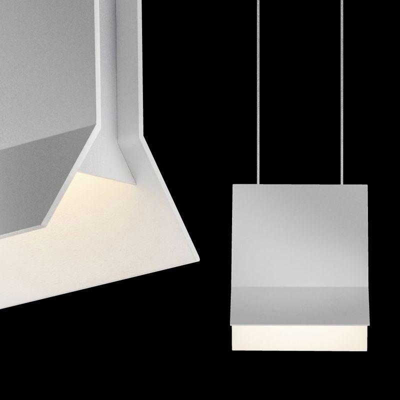 Sonneman 2730 Lambda 1 Light LED Pendant Bright Satin Aluminum Indoor Sale $300.00 ITEM#: 2655462 MODEL# :2730.16 UPC#: 872681062062 :