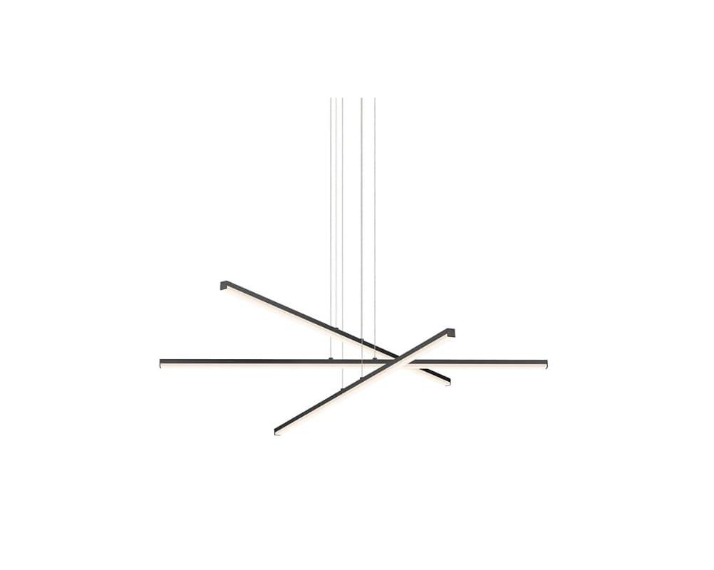 Sonneman 2763 STIX LED Pendant with Optical Acrylic Shade Satin Black