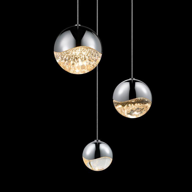 Sonneman 2914-AST Grapes 3 Light LED Pendant Polished Chrome Indoor Sale $750.00 ITEM#: 2655387 MODEL# :2914.01-AST UPC#: 872681062857 :