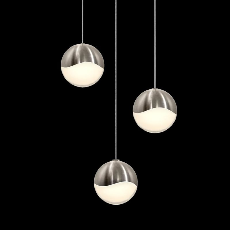 Sonneman 2914-SML Grapes 3 Light LED Pendant Satin Nickel Indoor Sale $650.00 ITEM#: 2655394 MODEL# :2914.13-SML UPC#: 872681062925 :