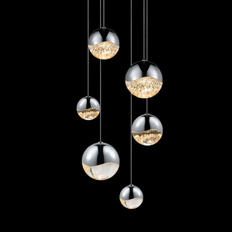 Sonneman 2915-AST Grapes 6 Light LED Pendant Polished Chrome Indoor Sale $1390.00 ITEM#: 2655395 MODEL# :2915.01-AST UPC#: 872681062932 :