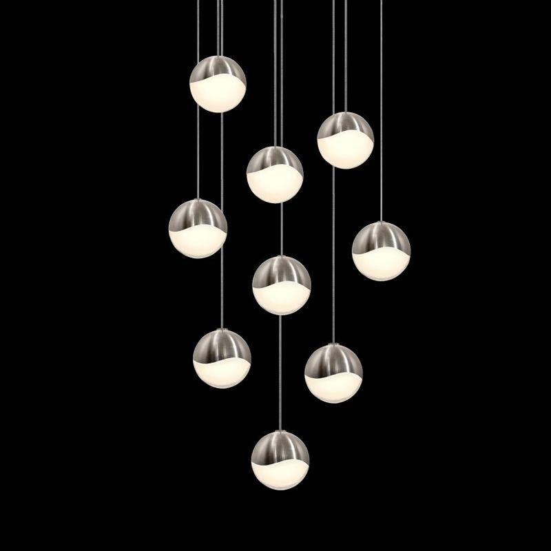 Sonneman 2916-LRG Grapes 9 Light LED Pendant Satin Nickel Indoor Sale $2500.00 ITEM#: 2655408 MODEL# :2916.13-LRG UPC#: 872681063076 :