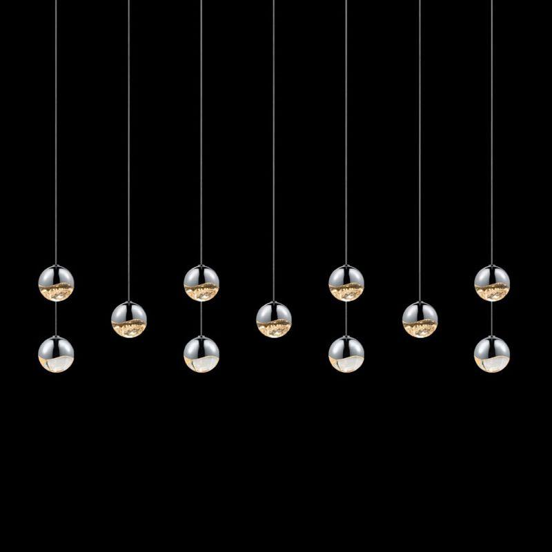 Sonneman 2922-MED Grapes 11 Light LED Pendant Polished Chrome Indoor Sale $3050.00 ITEM#: 2655440 MODEL# :2922.01-MED UPC#: 872681063397 :