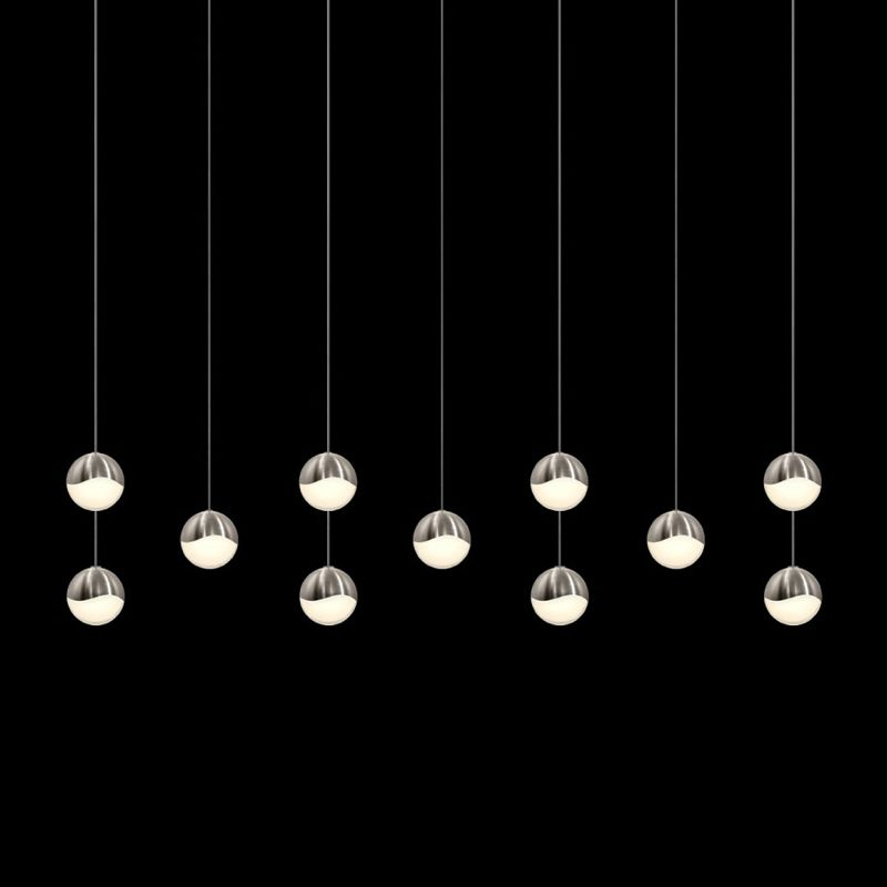Sonneman 2922-MED Grapes 11 Light LED Pendant Satin Nickel Indoor Sale $3050.00 ITEM#: 2655443 MODEL# :2922.13-MED UPC#: 872681063427 :