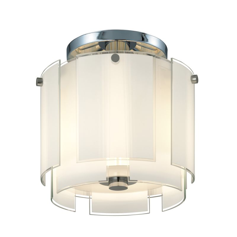Sonneman 3187 Velo 2 Light Semi-Flush Ceiling Fixture with White Glass Sale $550.00 ITEM#: 1721502 MODEL# :3187.01 UPC#: 872681028372 :