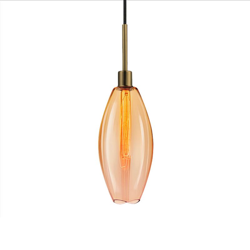 Sonneman 3196 Lillia 1 Light Pendant Retro Brass with Smoke Bronze