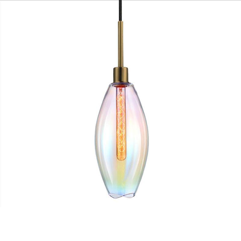 Sonneman 3196 Lillia 1 Light Pendant Retro Brass with Light Dichroic