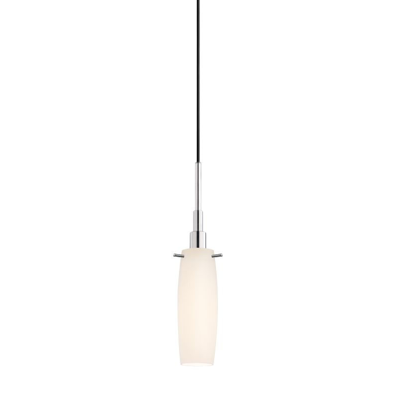 Sonneman 3552 Candela 1 Light Pendant with White Shade Polished Chrome