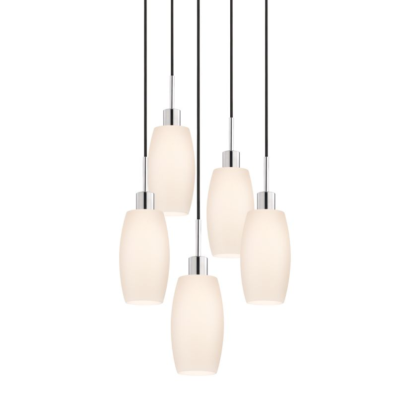 Sonneman 3561-5 Glass Pendants 5 Light Pendant with White Shade Sale $1310.00 ITEM#: 2276654 MODEL# :3561.01K-5 UPC#: 872681049988 :