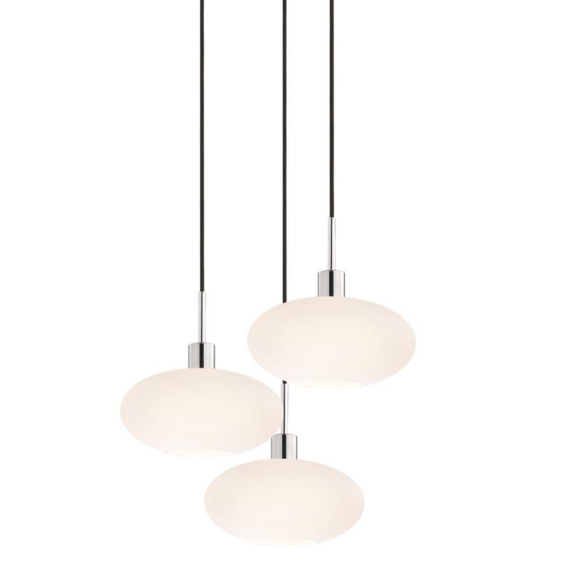 Sonneman 3566-3 Glass Pendants 3 Light Pendant with White Shade Sale $920.00 ITEM#: 2276676 MODEL# :3566.01K-3 UPC#: 872681050168 :