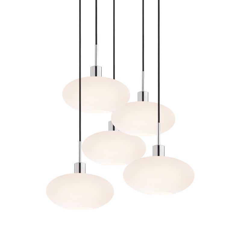 Sonneman 3566-5 Glass Pendants 5 Light Pendant with White Shade Sale $1650.00 ITEM#: 2276678 MODEL# :3566.01K-5 UPC#: 872681050182 :