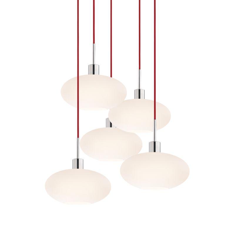 Sonneman 3566-5 Glass Pendants 5 Light Pendant with White Shade Sale $1650.00 ITEM#: 2276679 MODEL# :3566.01R-5 UPC#: 872681050199 :