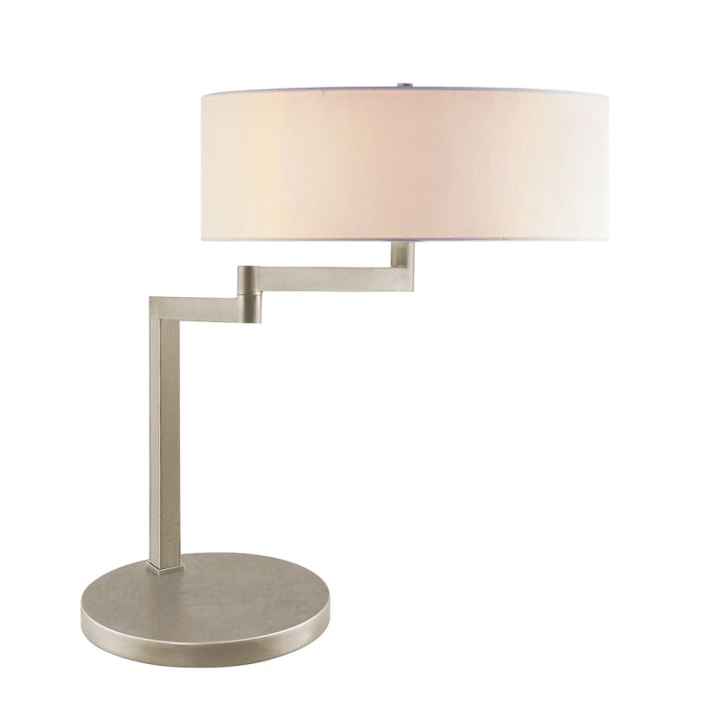Sonneman 3625 Osso 2 Light Table Lamp with Cream Shade Satin Nickel