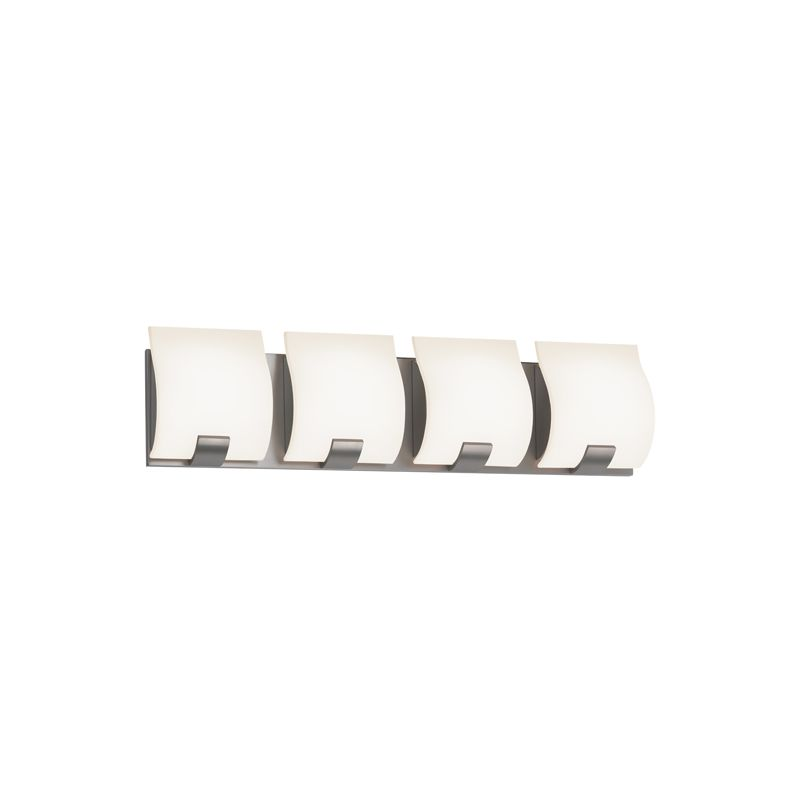 "Sonneman 3884LED Aquo 4 Light ADA Compliant LED Bathroom Vanity Strip Sale $790.00 ITEM#: 2406287 MODEL# :3884.13LED UPC#: 872681055699 Features: White Etched Glass Shade ETL Rated for Damp Locations Dimmable by Electronic Low Voltage (ELV) Lamping Technology: LED - Light Emitting Diode: Highly efficient integrated diodes produce little heat and have an extremely long lifespan. Compliance: ETL Listed - Indicates whether a product meets standards and compliance guidelines set by Nationally Recognized Testing Laboratory(NRTL). This listing determines what types of rooms or environments a product can be used in safely. Specifications: ADA: Yes Backplate Height: 5.25"" Backplate Width: 23.5"" Bulb Included: Yes Bulb Type: LED Color Rendering Index (CRI): 80 Color Temperature: 3000K Dimmable: Yes Energy Star: No ETL Listed: Yes ETL Rating: Damp Location Extension: 3"" (measured from mounting surface to furthest protruding point on fixture) Full Backplate: Yes Height: 6.25"" LED: Yes Light Direction: Ambient Lighting Lumens: 1440 Material: Other Metals Number of Bulbs: 4 Product Weight: 12.4 lbs :"