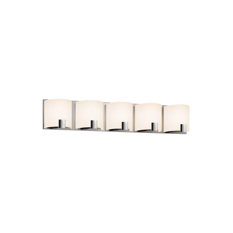 Sonneman 3895LED C-Shell 5 Light ADA Compliant LED Bathroom Vanity Sale $900.00 ITEM#: 2406298 MODEL# :3895.01LED UPC#: 872681055804 :
