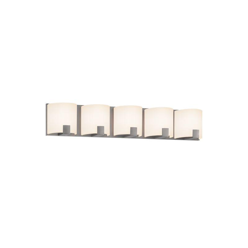 Sonneman 3895LED C-Shell 5 Light ADA Compliant LED Bathroom Vanity Sale $900.00 ITEM#: 2406299 MODEL# :3895.13LED UPC#: 872681055811 :
