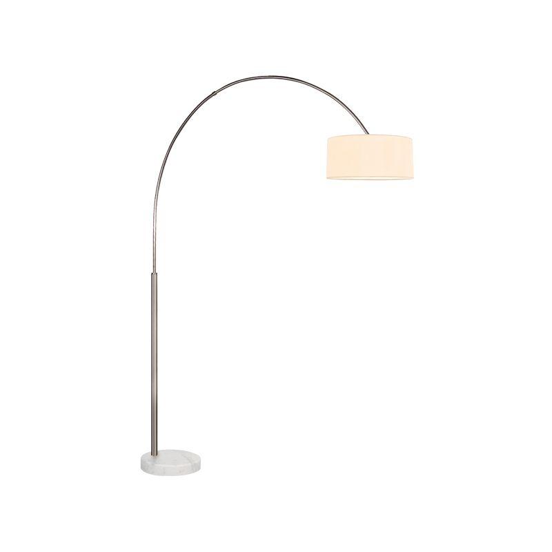 Sonneman 4097W Arc Shade 1 Light Floor Lamp with Cream Shade Satin Sale $590.00 ITEM#: 2406320 MODEL# :4097.13W UPC#: 872681057150 :